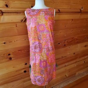 1960s Malbe Original Multi-Color Floral Summer Dre
